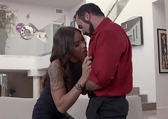 Realtor shemale with big breast ass fucking fucked by a client