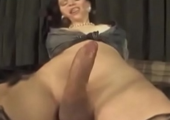 Unprofessional ts hotties stroking cocks and creaming