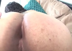 Amateur players tgirl jerks and widens booty