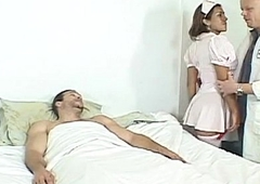 Ladyman nurse assfucked by unending dicks