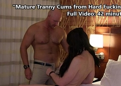 TS Kimber Where one lives stress Cums Hard from Deep Fucking
