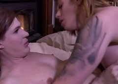 Ts babe fucks tgirls pain in the neck