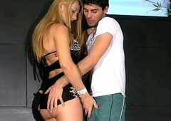 Blonde femboy acquires their way bubble ass licked with an increment of permeated