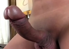 Asian Tgirl Candy B Strokes The brush Cock