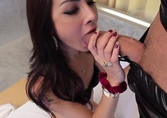 Fondling loving t-girl assfucked before facial