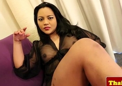 Busty asian tranny in underthings convulsive absent