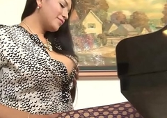 Transsexual pro jizz drenched