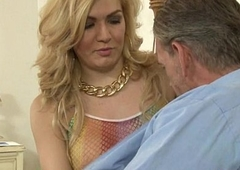 Lusty tranny Gianna Rivera drilled overwrought three the rabble